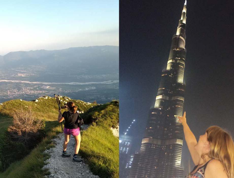dalle cime delle dolomiti ai grattacieli di Dubai